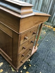A picture of a revamped Davenport Desk with its drawer