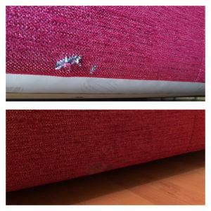 moving damage fabric repair